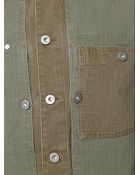 Maison Margiela Blue Panelled Shirt Jacket for men