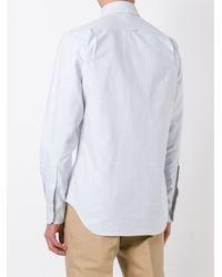Thom Browne Blue Embroidered Dog Shirt for men