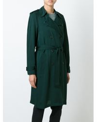 Theory - Blue Trench Coat - Lyst