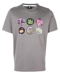 PS by Paul Smith - Gray Multi Print T-shirt for Men - Lyst