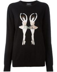 Markus Lupfer | Black Ballerinas Intarsia Sweater | Lyst