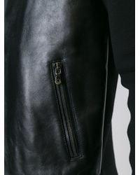 Dolce & Gabbana - Black Leather Panel Jacket for Men - Lyst