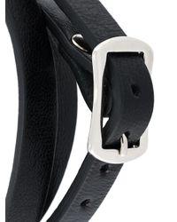 McQ | Black 'razor' Triple Wrap Bracelet for Men | Lyst
