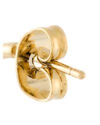 Isabel Marant - Black Teardrop Embellishment Hoop Earrings - Lyst