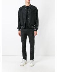 Alexander McQueen   Black Insignia Bomber Jacket for Men   Lyst