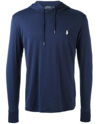 Polo Ralph Lauren Blue Classic Hoodie for men