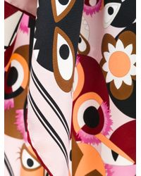 Fendi | Multicolor Monster Print Foulard | Lyst