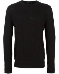 Alexander McQueen | Black Skull Fine Knit Jumper for Men | Lyst