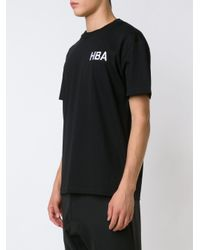 Hood By Air Black Embroidered Logo T-shirt for men