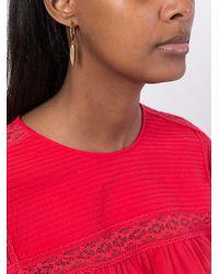 Isabel Marant - Metallic Teardrop Ring Earrings - Lyst