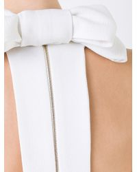 Rebecca Vallance White 'breakers' Bow Detail Gown