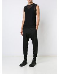 Versace - Black Net Effect Tank Top for Men - Lyst