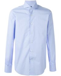 Lardini - Blue Long Sleeve Buttoned Shirt for Men - Lyst