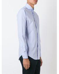 Lardini - Blue Long Sleeve Buttoned Shirt for Men - Lyst