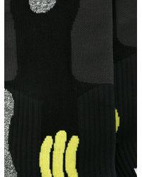 Maison Margiela - Gray Colour Block Socks for Men - Lyst