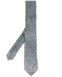 Brunello Cucinelli | Gray Diagonal Stripe Neck Tie for Men | Lyst