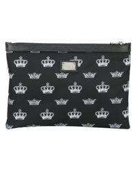 Dolce & Gabbana | Black Crown Print Clutch for Men | Lyst