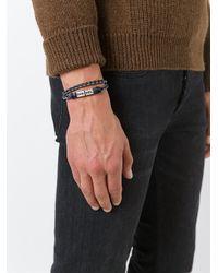 DIESEL - Black 'alucy' Bracelet for Men - Lyst