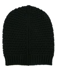 Rick Owens | Black Knit Beanie for Men | Lyst