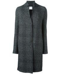 Harris Wharf London | Black Notched Stand Collar Coat | Lyst