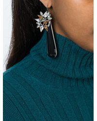 Marni | Black Teardrop Earrings | Lyst