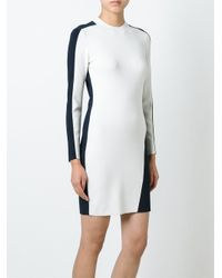 Rag & Bone - Natural Contrast Detail Longsleeved Dress - Lyst