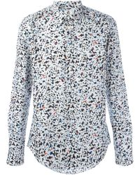 PS by Paul Smith White Confetti-print Cotton Shirt for men