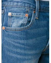 Levi's - Blue Cropped Jeans - Lyst