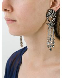 Roberto Cavalli - Metallic 'zebra' Earrings - Lyst