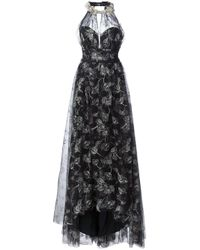 Notte by Marchesa   Black Embroidered Flower Dress   Lyst