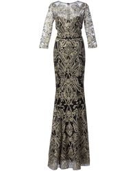 Notte by Marchesa | Black Embroidered Gown | Lyst