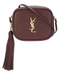 Saint Laurent | Pink 'monogram Blogger' Crossbody Bag | Lyst