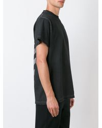 Off-White c/o Virgil Abloh | Black Striped Back Print T-shirt for Men | Lyst