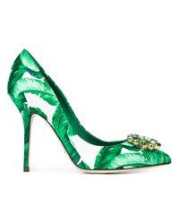 Dolce & Gabbana Green 'belluci' Pumps