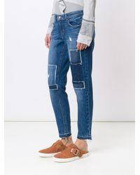 10 Crosby Derek Lam Blue Mila Mid-rise Slim Girlfriend Jeans