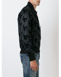 Philipp Plein - Black 'think' Bomber Jacket for Men - Lyst