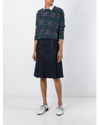 Cedric Charlier - Blue Cédric Charlier Button Front Skirt - Lyst