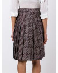 Diane von Furstenberg - Brown High-rise Pleated Skirt - Lyst