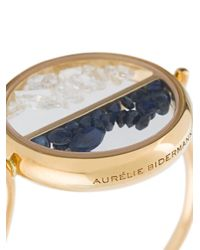 Aurelie Bidermann - Multicolor 'chivoir' Diamond And Sapphire Ring - Lyst