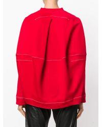 Marni - Red Stitch Detail Sweatshirt - Lyst