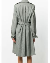 Christian Dior Pre-Owned Gray Prince Of Wales Coat