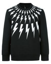 Neil Barrett | Multicolor Fair Isle Thunderbolt Print Sweatshirt for Men | Lyst
