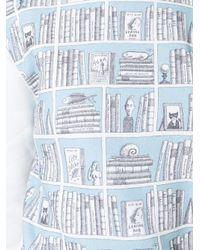 Olympia Le-Tan - Blue Library Print Sweatshirt - Lyst