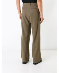 Strateas Carlucci - Green 'tunnel' Pleated Trousers for Men - Lyst