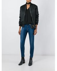 Saint Laurent - Black Patent Emma Medium Flap Bag - Lyst