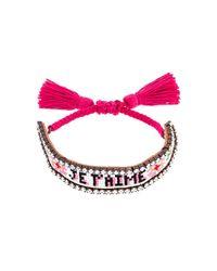 Shourouk | Multicolor 'je T'aime' Tassel Bracelet | Lyst