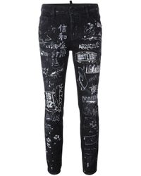 DSquared² | Black 'cool Girl' Jeans | Lyst