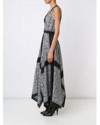 Altuzarra Black Paisley Dress