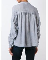 MASSCOB - Blue Crinkled Shirt - Lyst