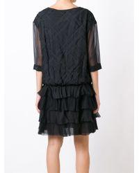 Faith Connexion | Black Oversized Ruffle Dress | Lyst